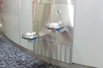 Drinking Fountains in International Departure Lounge